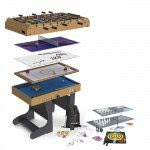 Riley 21-In-1 Folding 4 foot Multigames Table (M21B-1F)