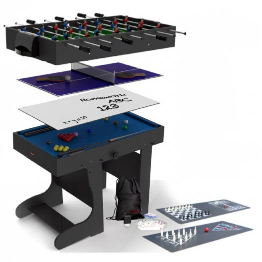 Riley 12-In-1 Folding 4 foot Multi Games Table (MG12-1F)