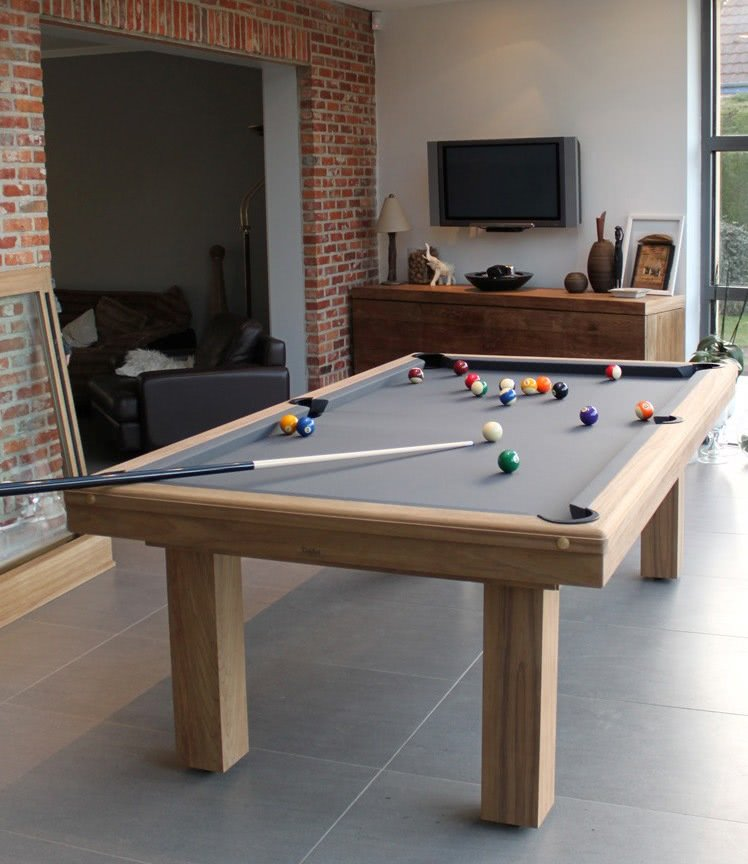 Billard toulet outdoor teck snooker table 9 ft 10 ft for 10 snooker table