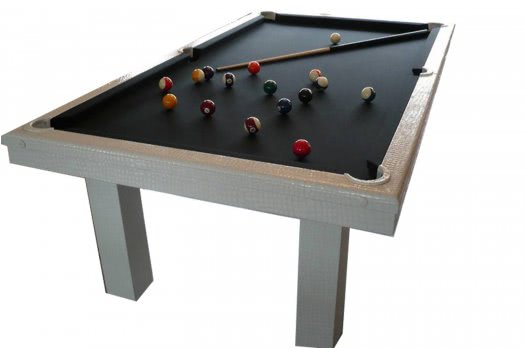Billard Toulet Leather Pearl Slate Bed Pool Table