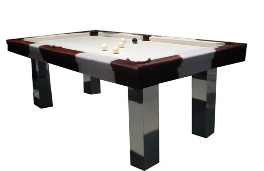 Billard Toulet Leather Pinto Slate Bed Pool Table