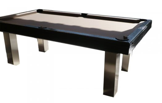 Billard Toulet Leather Patent American Slate Bed Pool Table