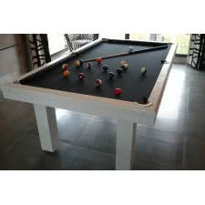 Billard Toulet Leather Pearl Slate Bed Snooker Table