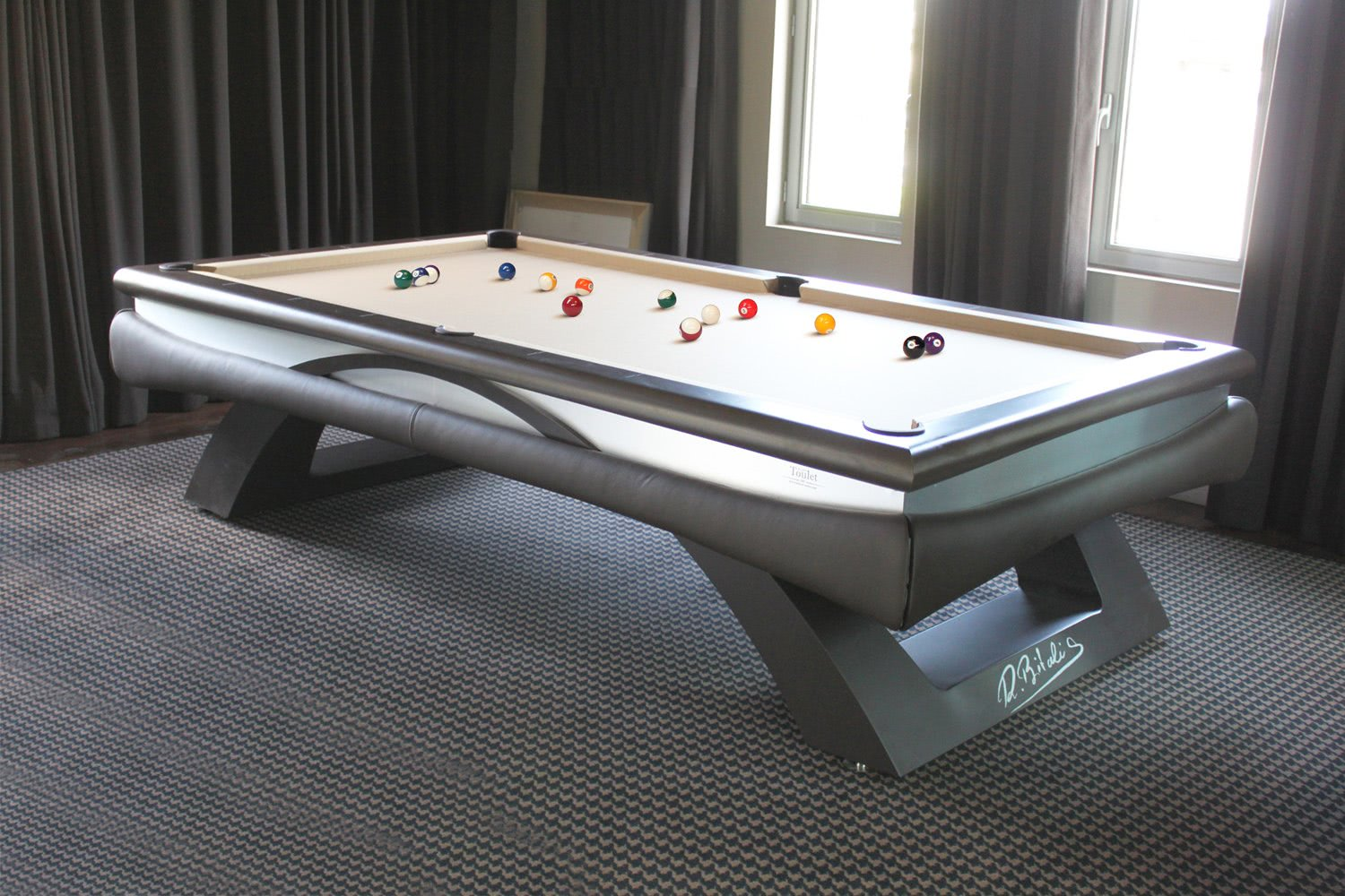 billard toulet bitalis slate bed snooker table with table billard. Black Bedroom Furniture Sets. Home Design Ideas