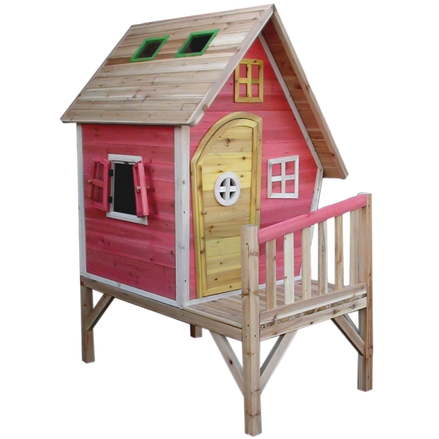 Crooked tower play house 3245 liberty games for Wooden playhouse designs