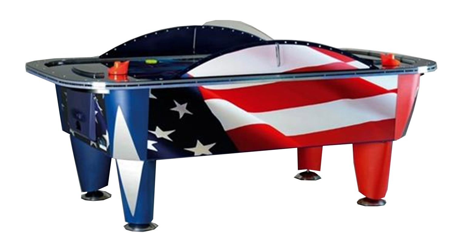 Yukon patriot 8 foot commercial air hockey table liberty for Table hockey