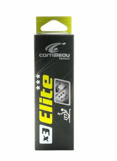 Cornilleau Box of 3 Elite ITTF Table Tennis Balls