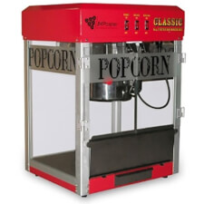 8oz Red Professional Popcorn Maker with Cart