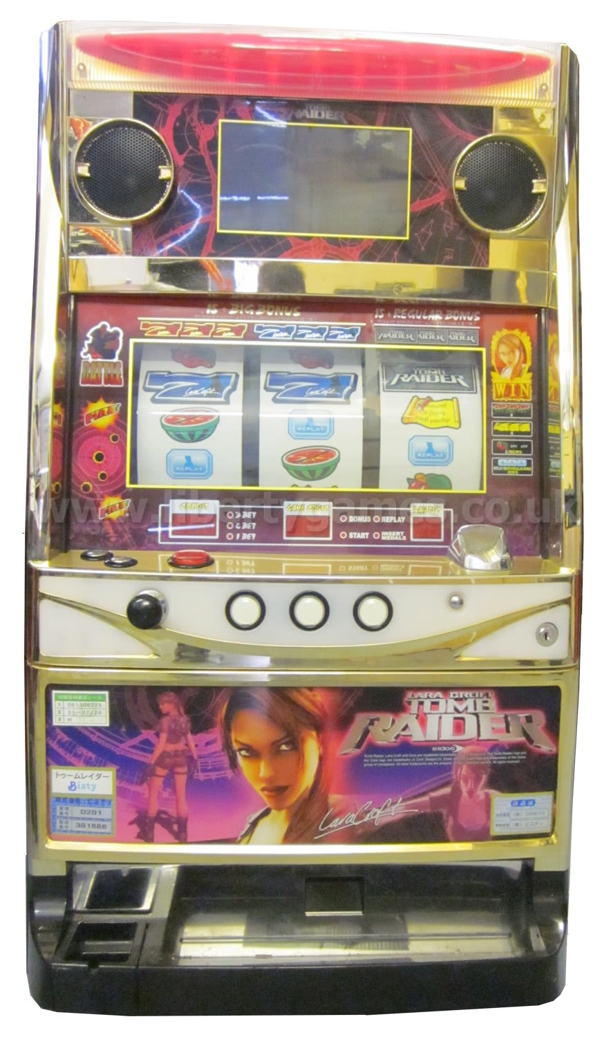 tomb raider slot machine for sale