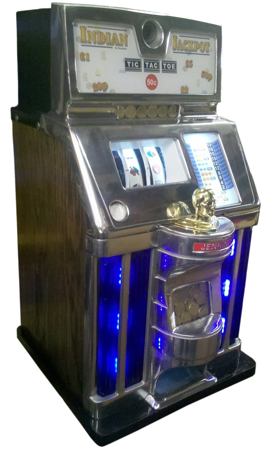 Jennings Indian Jackpot Led One Arm Bandit Liberty Games