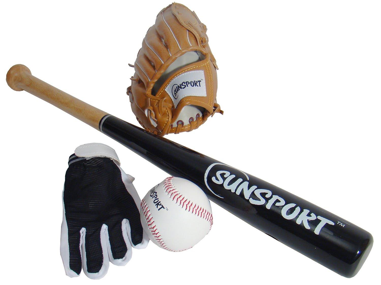 Sunsport baseball gloves bat amp ball liberty games