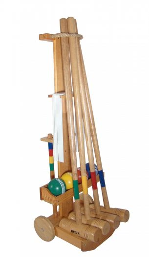 Croquet Pro Set with Wooden Trolley