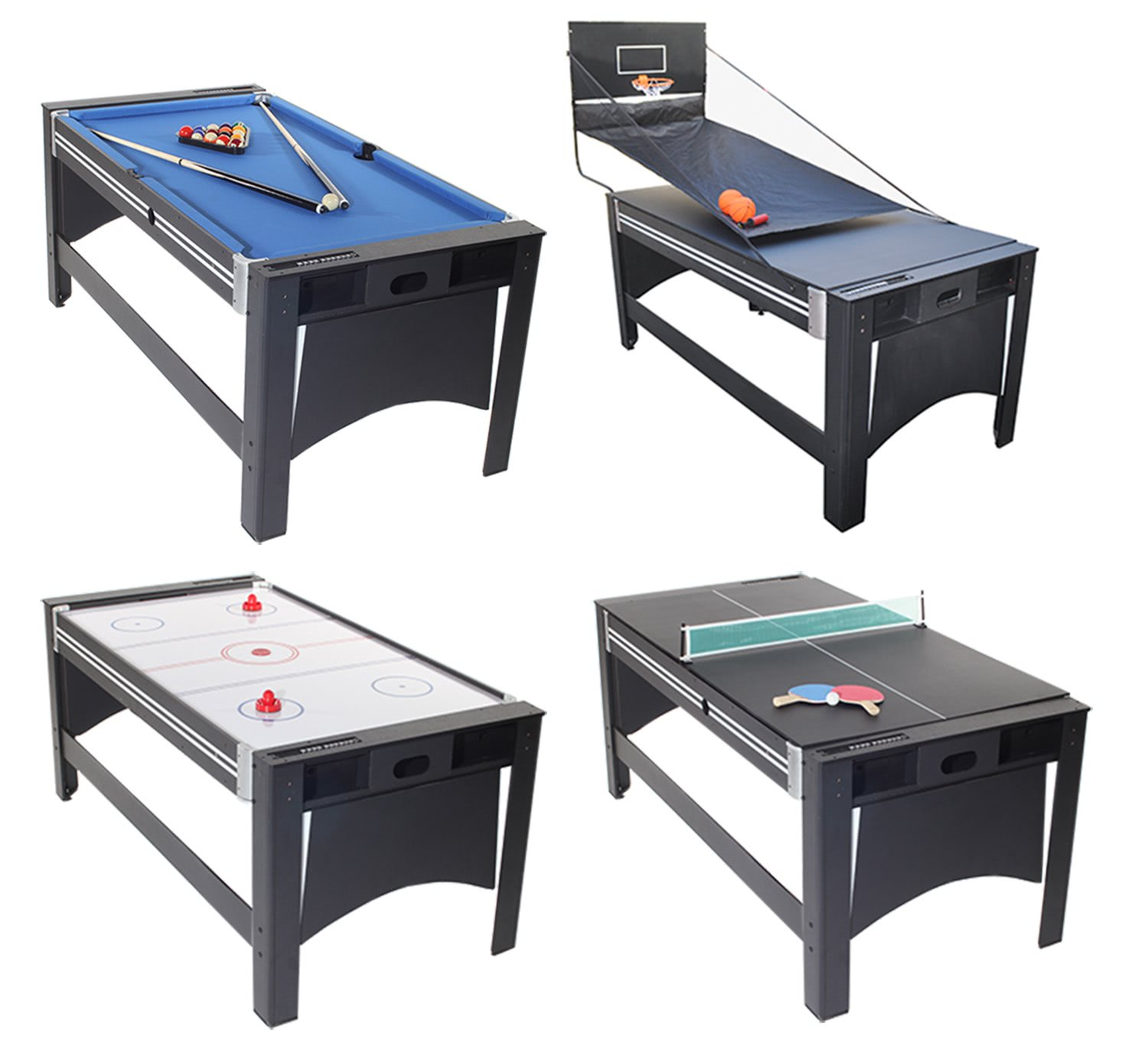 Strikeworth 6 foot multi games table liberty games for Table 6 games