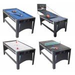 Strikeworth 6 foot 4-in-1 Multi Games Table with Blue Cloth