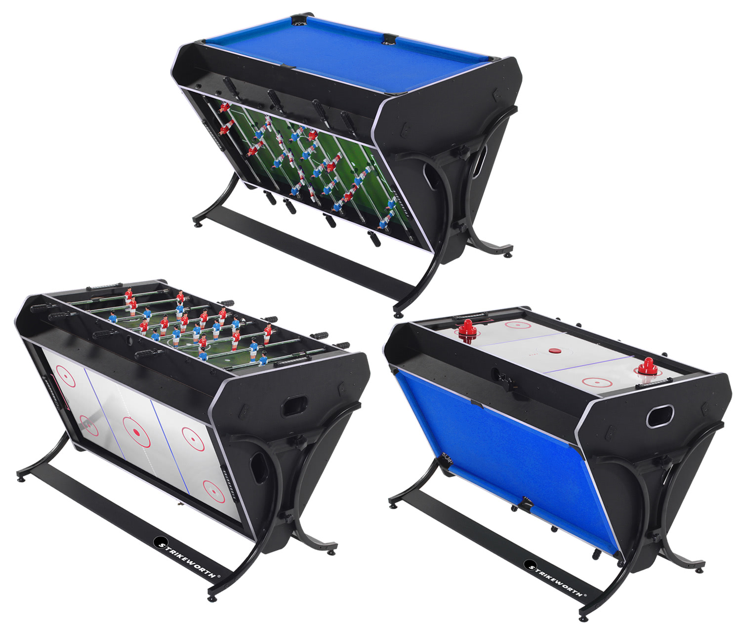 Bon Strikeworth TriSport 4 Foot Multi Games Table