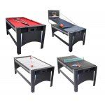 Strikeworth 6 foot 4-in-1 Multi Games Table with Red Cloth