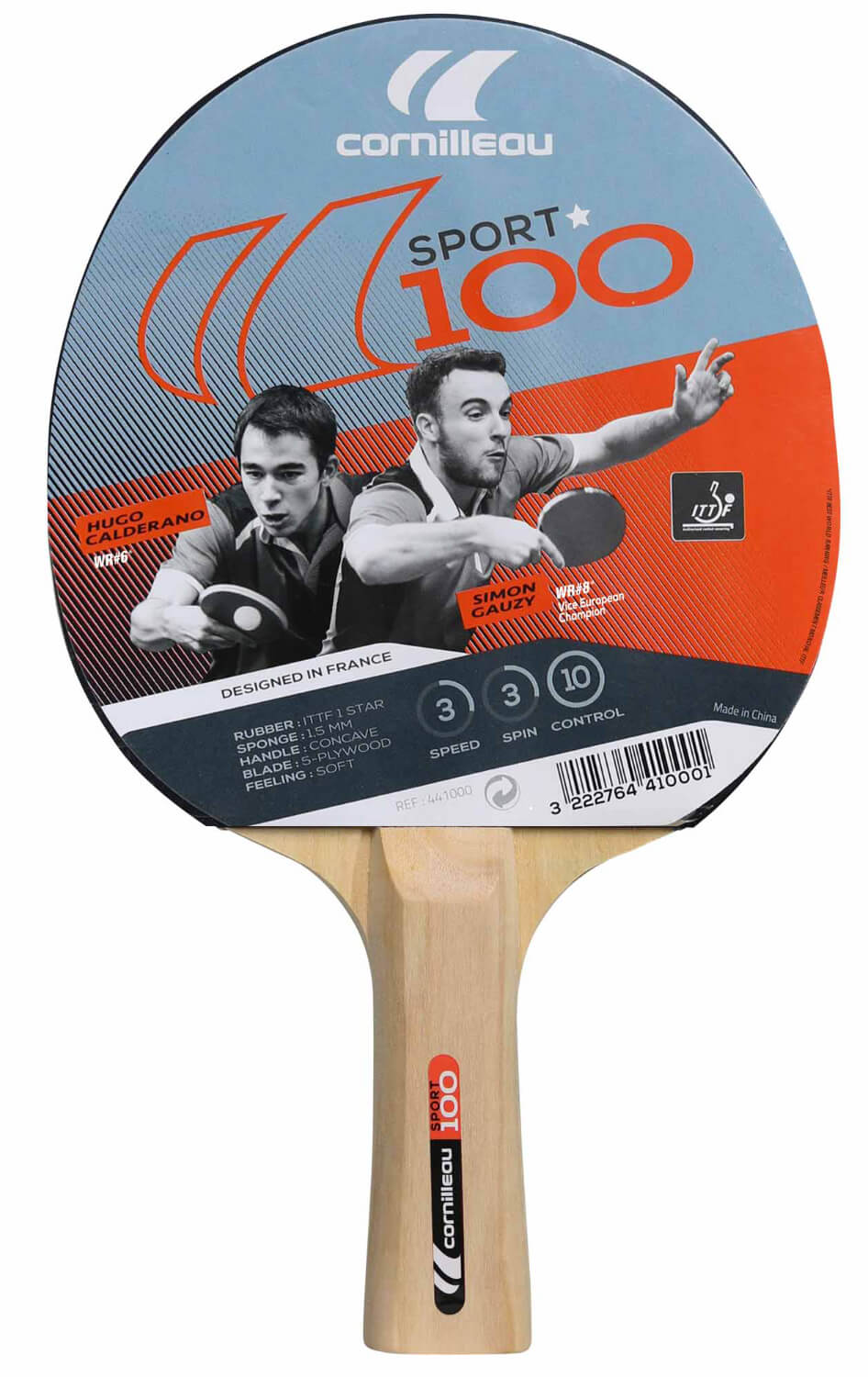 cornilleau sport 100 table tennis bat liberty games
