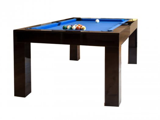 Duo Milano Piano Black Pool Dining Table