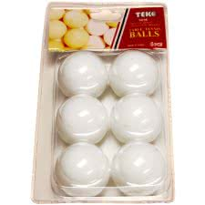 TekScore Pack of 6 1* Table Tennis Balls