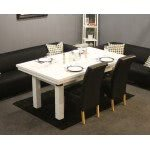 The Amalfi White Pool Dining Table