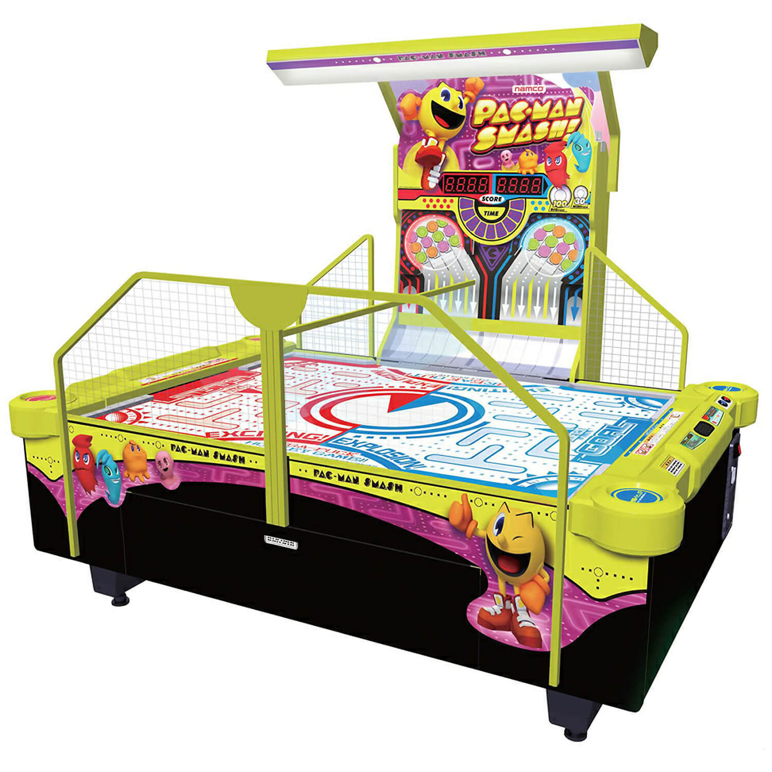Namco Pac Man Smash Arcade Air Hockey Table Reconditioned