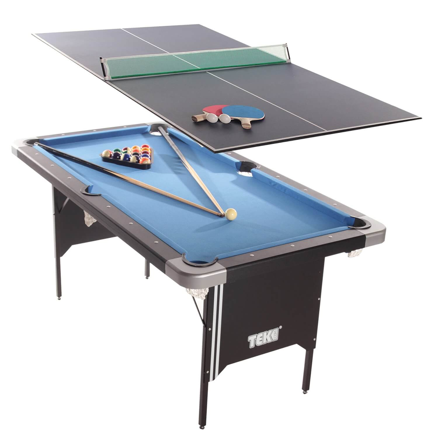 Beau Tekscore Folding Leg Pool Table With Table Tennis Top