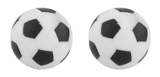 Strikeworth 31mm Black and White Football Table Balls