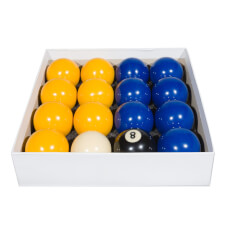 Competition 2'' Blue & Yellow Coin Op Pool Ball Set