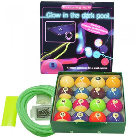 Aramith 2'' UV Spots & Stripes Pool Balls