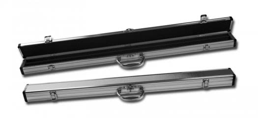 Chrome Cue Case for 2 Piece Pool Cue (P2231)