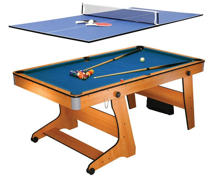 Bce 6ft vertical folding home pool table fp 6tt for Table 6 foot