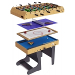 Riley 4 foot 4-in-1 Folding Leg Multigames Table (M4B-1F)