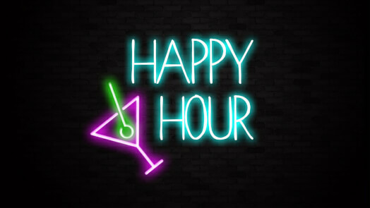 Happy hour bar sign liberty games happy hour neon bar sign aloadofball Images