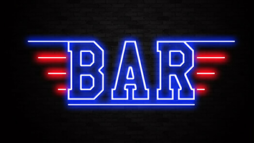 Top Gun Neon Bar Sign