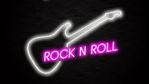 Rock 'n' Roll Neon Bar Sign