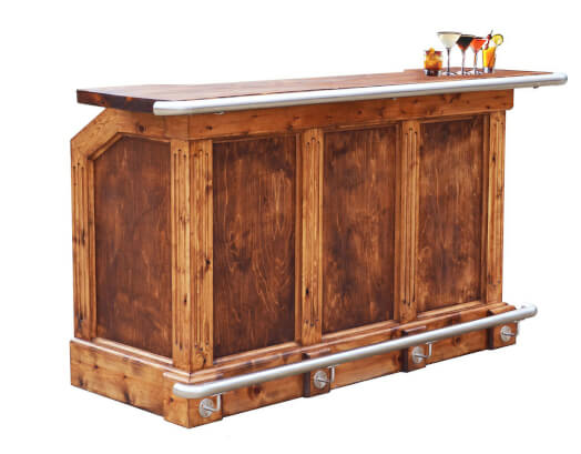 The Traditional Solid Wood Home Bar