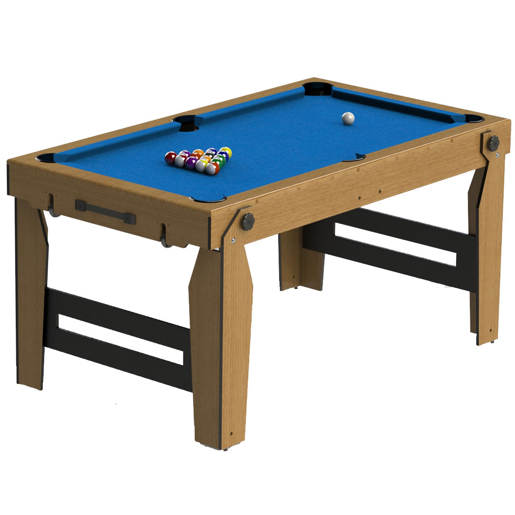 Blf folding pool table liberty games for Table retractable