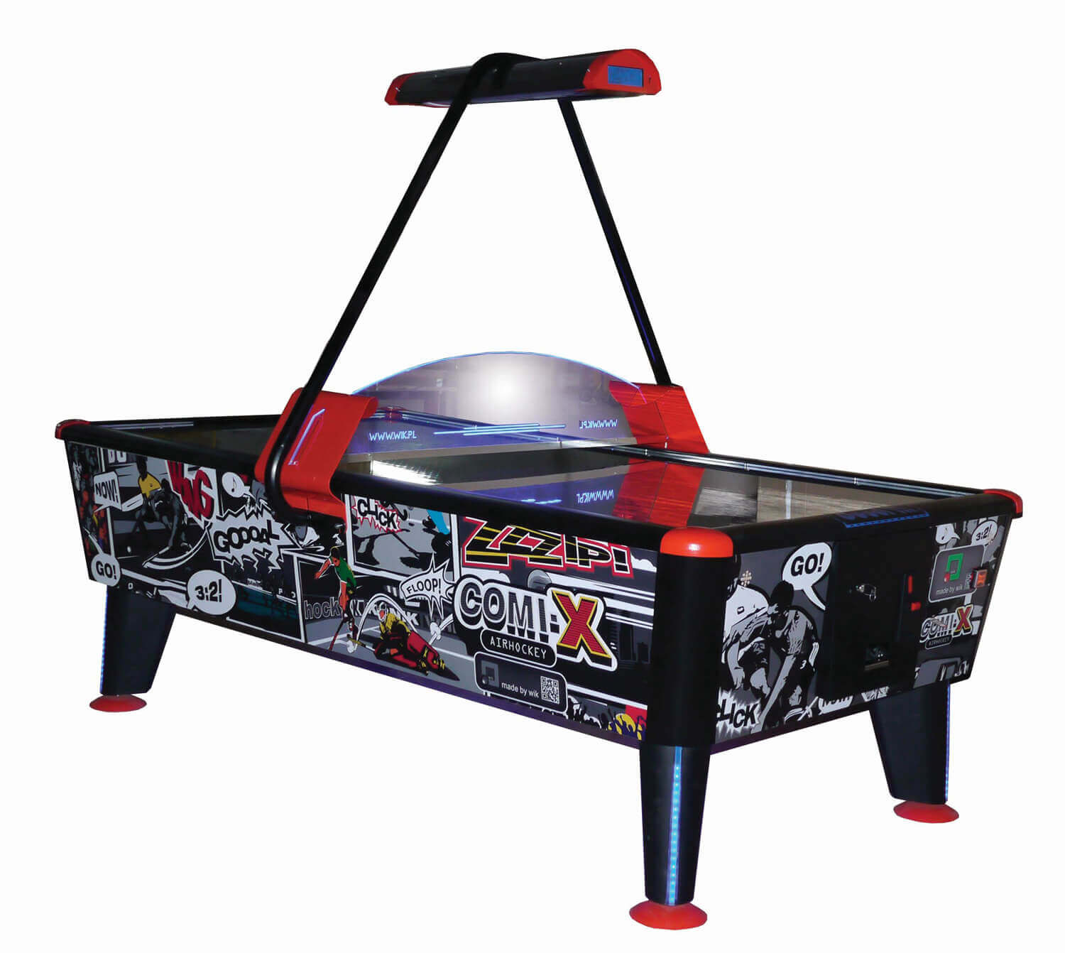 Comix black air hockey table liberty games for Table hockey