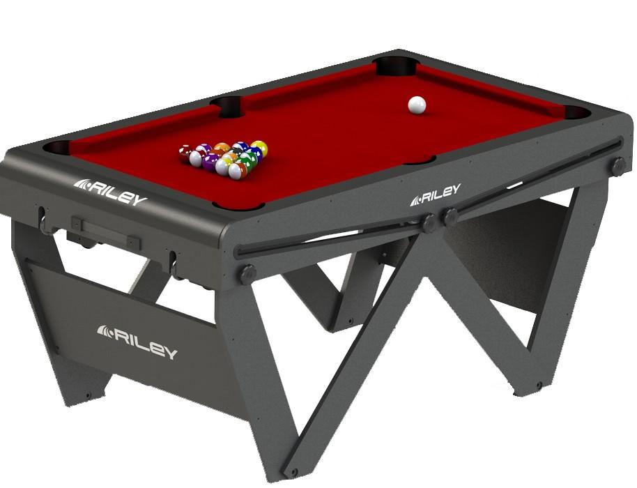 Riley 5ft W Leg Folding Pool Table