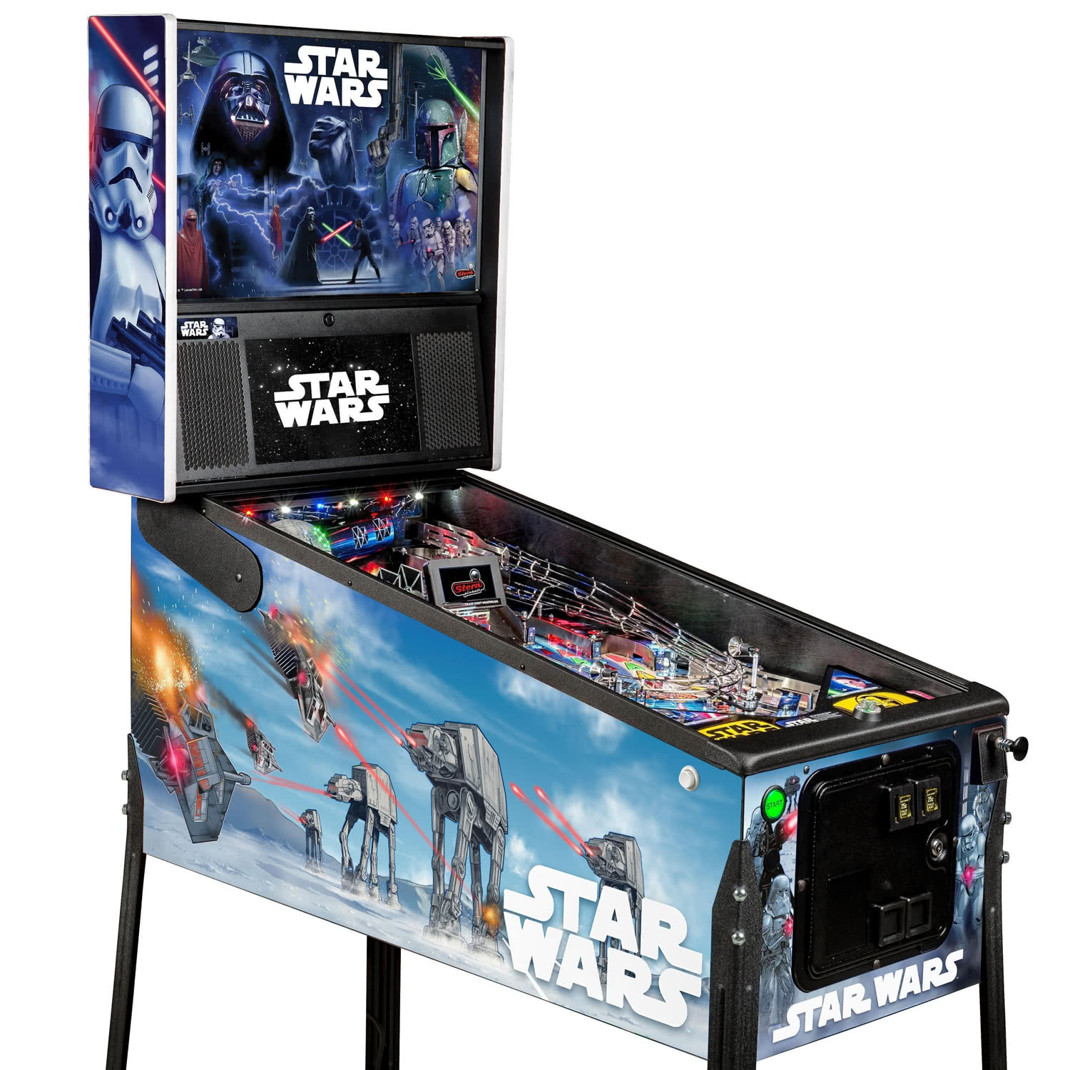 Star Wars Pinball Machine >> Stern Star Wars Premium Pinball Machine Liberty Games