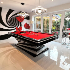 The Harmani Slate Bed Pool Table