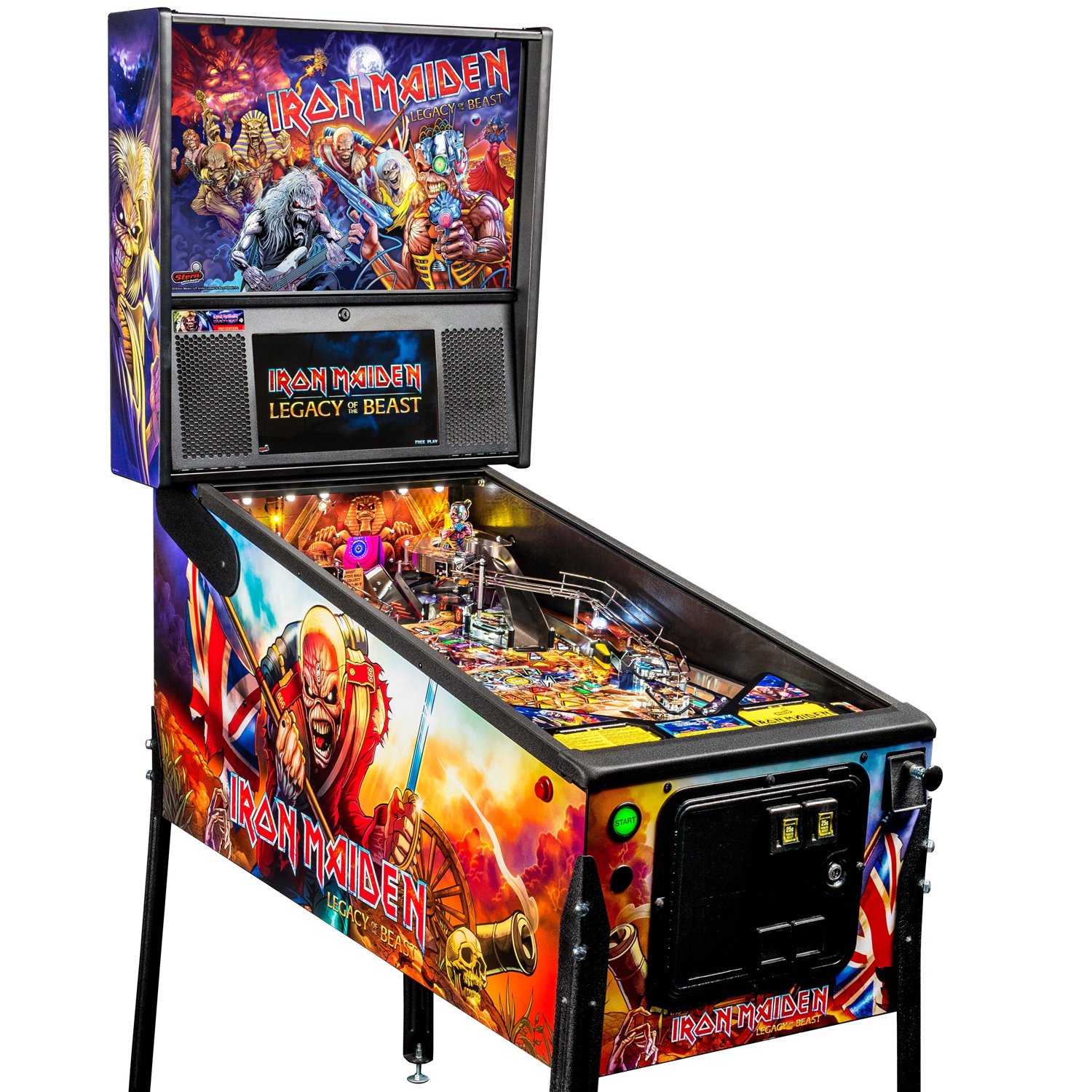 stern iron maiden legacy of the beast pro pinball machine