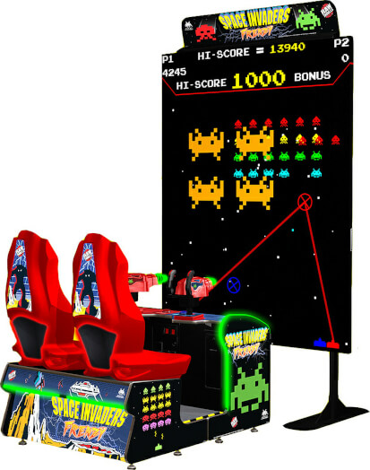 Space Invaders Frenzy Arcade Machine