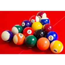 Tekscore Value 2in Spots & Stripes Pool Ball Set