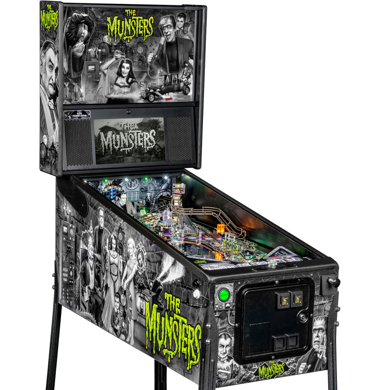 Stern The Munsters Premium Pinball Machine Liberty Games