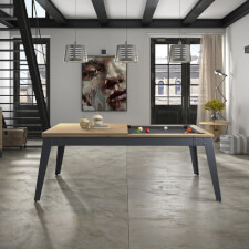 The Steel 6ft Slate Bed American Pool Table