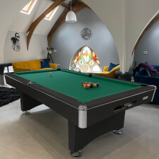 The Pureline Nevada II Slate Bed American Pool Table