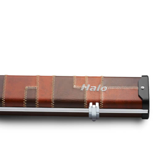 Peradon Tan & Brown Patch Halo Case for 3/4 Jointed Pool Cue