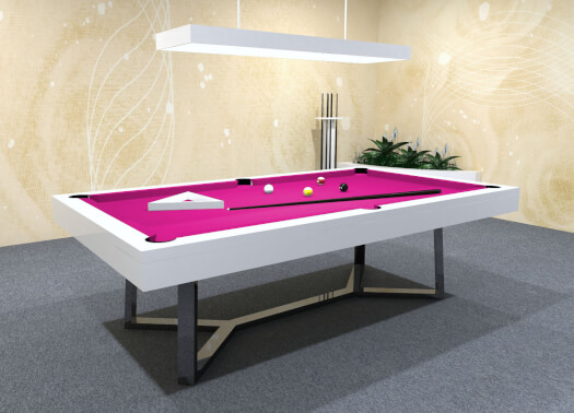 The Silverlight Deluxe Slate Bed Pool Table