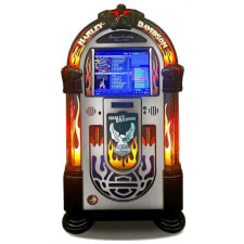 Rock-Ola Harley-Davidson Flames Digital Jukebox
